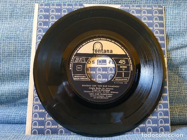 Discos de vinilo: NAVIDAD CON LOS BLUE DIAMONDS - JINGLE BELLS EP FONTANA AÑO 1962 PESTAÑA Y FUNDA INTERIOR ORIGINALES - Foto 4 - 182582671