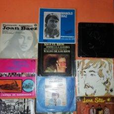 Discos de vinilo: LOTE DE 10 SINGLES DE GRUPOS Y SOLISTAS AÑOS 60 . CON FUNDA INTERIOR Y EXTERIOR. Lote 182583052