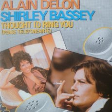 Discos de vinilo: ALAIN DELON Y SHIRLEY BASSEY SINGLE SELLO ZAFIRO AÑO 1983 EDITADO EN ESPAÑA.. Lote 182584155