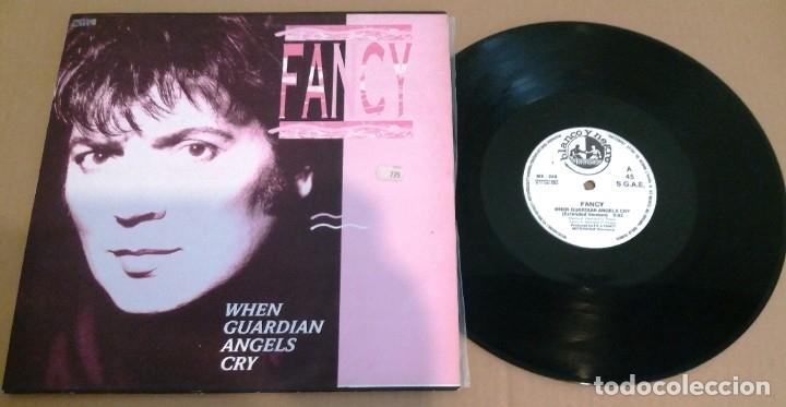FANCY / WHEN GUARDIAN ANGELS CRY (ED. ESPAÑOLA BLANCO Y NEGRO MUSIC) / MAXI-SINGLE 12 INCH (Música - Discos de Vinilo - Maxi Singles - Pop - Rock Extranjero de los 90 a la actualidad)