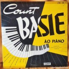 Discos de vinilo: LP COUNT BASIE AO PIANO, DISCO 10 PULGADAS, ED. BRASIL 1954, RARO, MUY BUEN ESTADO (EX_EX). Lote 182592965