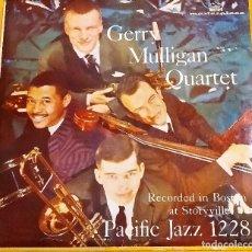 Discos de vinilo: LP GERRY MULLIGAN QUARTET - IN BOSTON AT STYVILLE, ED. BRASIL 1957, MUY RARO, (VG+_VG+). Lote 182593382