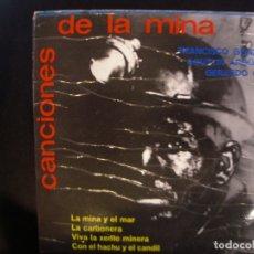 Discos de vinilo: CANCIONES DE LA MINA- EP.. Lote 182598658