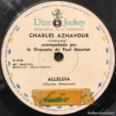 Discos de vinilo: SENCILLO ARGENTINO DE CHARLES AZNAVOUR AÑO 1964. Lote 112568447