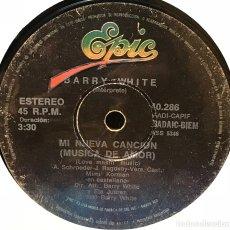 Discos de vinilo: SENCILLO ARGENTINO DE BARRY WHITE AÑO 1980. Lote 122147383