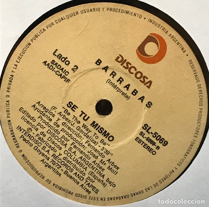 Discos de vinilo: Sencillo argentino de Barrabas año 1981 - Foto 2 - 122150287