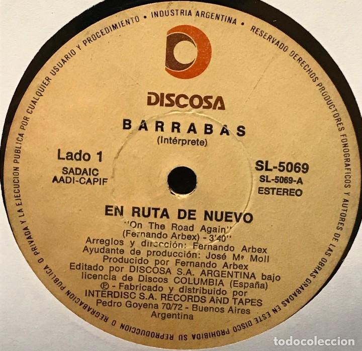 SENCILLO ARGENTINO DE BARRABAS AÑO 1981 (Música - Discos - Singles Vinilo - Grupos Españoles de los 70 y 80)