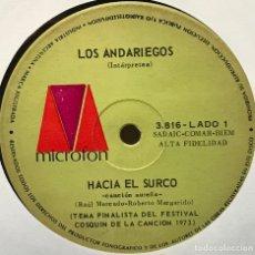 Discos de vinilo: SENCILLO ARGENTINO DE LOS ANDARIEGOS AÑO 1973. Lote 122150703