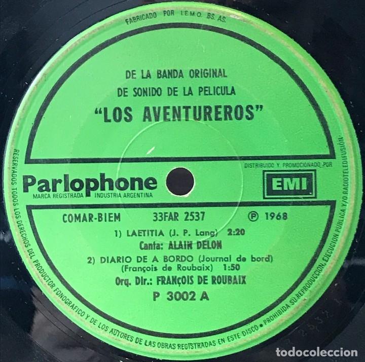 Discos de vinilo: EP argentino de la película Los aventureros año 1966 - Foto 3 - 148844870