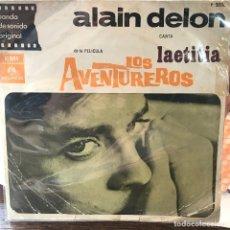 Discos de vinilo: EP ARGENTINO DE LA PELÍCULA LOS AVENTUREROS AÑO 1966. Lote 148844870