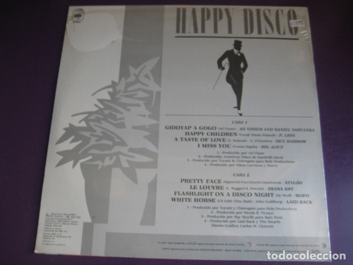 Discos de vinilo: Happy Disco LP CBS 1983 RECOPILATORIO ITALODISCO 80'S - P. LION - AD VISSER - DEN HARROW ETC - Foto 3 - 182620518