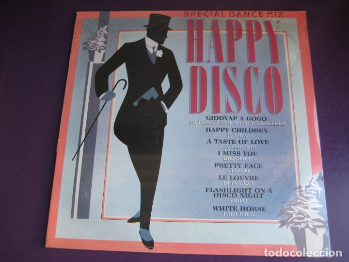 HAPPY DISCO LP CBS 1983 RECOPILATORIO ITALODISCO 80'S - P. LION - AD VISSER - DEN HARROW ETC (Música - Discos - LP Vinilo - Disco y Dance)