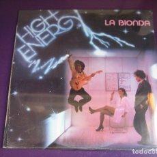 Discos de vinilo: LA BIONDA LP HISPAVOX 1980 PRECINTADO - HIGH ENERGY - ELECTRONICA ITALODISCO - ITALIA DISCO. Lote 182621245