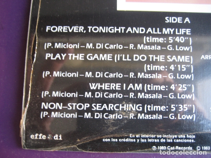 Discos de vinilo: Gary Low LP HISPAVOX 1983 PRECINTADO - Go On - ITALODISCO - ITALIA DISCO SYNTH 80'S - Foto 3 - 182621546