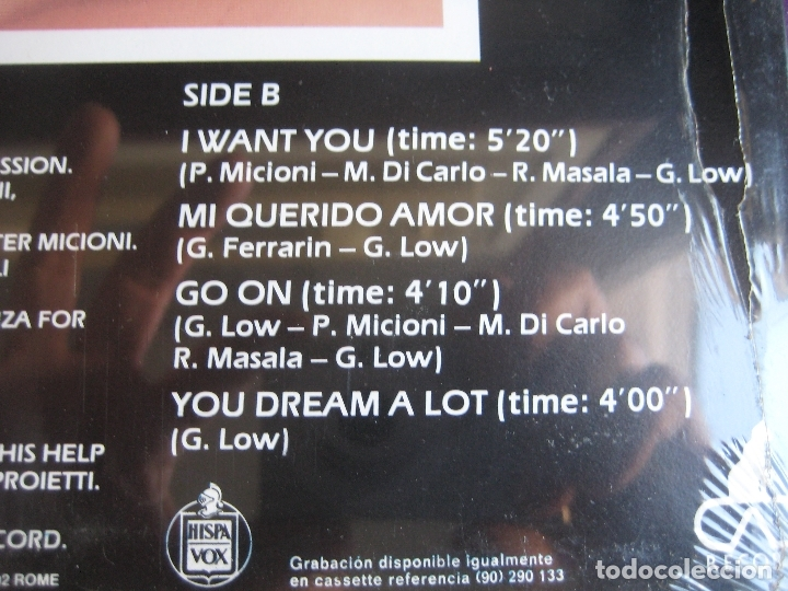 Discos de vinilo: Gary Low LP HISPAVOX 1983 PRECINTADO - Go On - ITALODISCO - ITALIA DISCO SYNTH 80'S - Foto 4 - 182621546