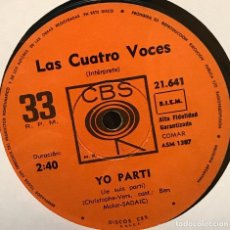 Discos de vinilo: SENCILLO ARGENTINO DE LAS CUATRO VOCES AÑO 1967. Lote 122145447