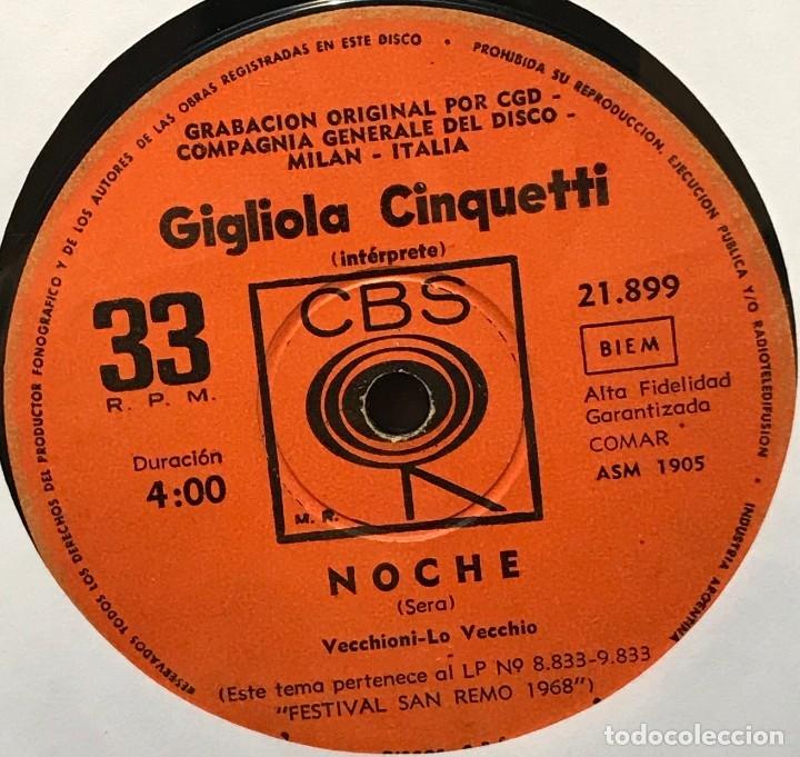Discos de vinilo: Sencillo argentino de Gigliola Cinquetti cantado en italiano año 1968 - Foto 2 - 122145691