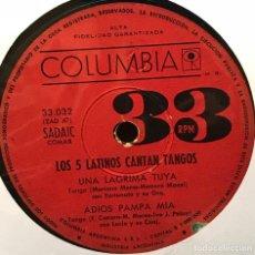 Discos de vinilo: EP ARGENTINO DE LOS 5 LATINOS AÑO 1964. Lote 122146943