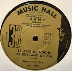 Discos de vinilo: SENCILLO ARGENTINO DE DANY AÑO 1970. Lote 122150947