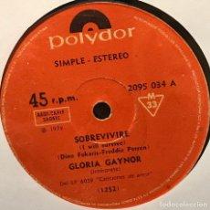 Discos de vinilo: SENCILLO ARGENTINO DE GLORIA GAYNOR AÑO 1978. Lote 122151611