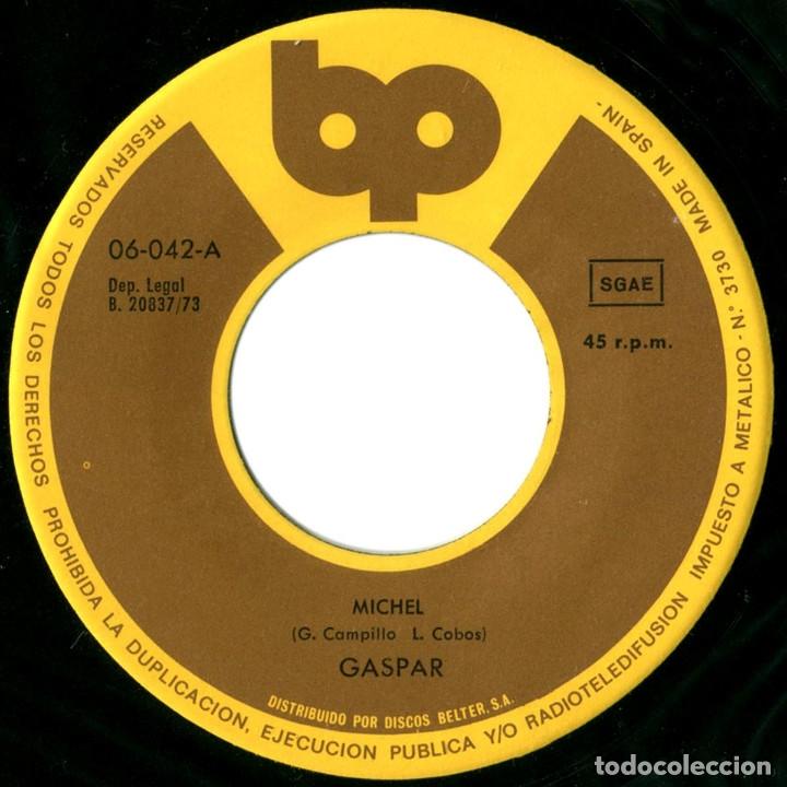 Discos de vinilo: Gaspar – Michel / Pensando En Rock - Sg Spain 1973 - BP 06.042 - Mint! - Foto 3 - 182624625