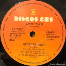 Discos de vinilo: SENCILLO ARGENTINO DE LEO DAN AÑO 1978. Lote 197681795