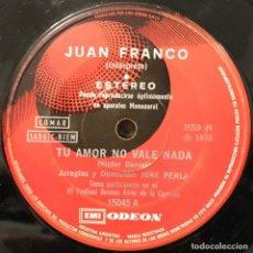 Discos de vinilo: SENCILLO ARGENTINO DE JUAN FRANCO AÑO 1972. Lote 115255939