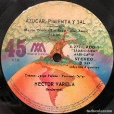 Discos de vinilo: SENCILLO ARGENTINO DE HÉCTOR VARELA Y SU ORQUESTA AÑO 1977. Lote 115256199