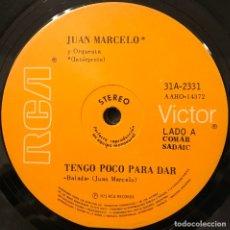Discos de vinilo: SENCILLO ARGENTINO DE JUAN MARCELO AÑO 1973. Lote 115256387