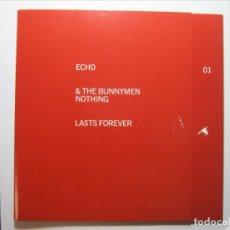 Discos de vinilo: ECHO & THE BUNNYMEN - NOTHING LAST FOREVER / SINGLE VINILO EDICIÓN INGLESA NUEVO A ESTRENAR.. Lote 182635515