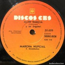 Discos de vinilo: SENCILLO ARGENTINO DE MITO GARCÍA AÑO 1964 REEDICIÓN. Lote 112568231