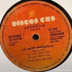 Discos de vinilo: SENCILLO ARGENTINO DE LUCRECIA AÑO 1980. Lote 122146807
