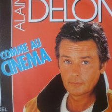 Discos de vinilo: ALAIN DELON SINGLE SELLO CARRERE EDITADO EN FRANCIA AÑO 1987. Lote 182636815