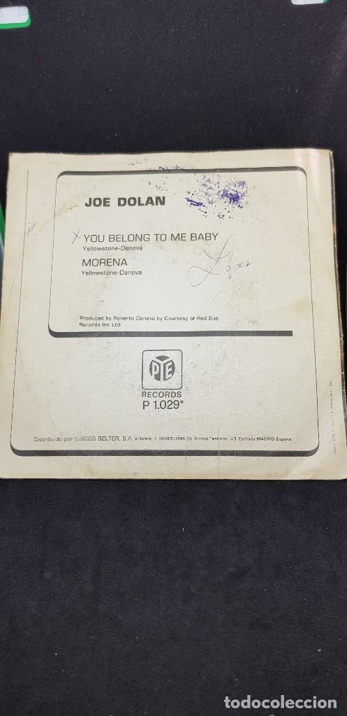 Discos de vinilo: JOE DOLAN YOU BELONG TO ME BABY 1976 - Foto 2 - 182637631