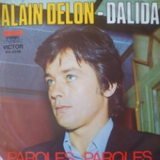 Discos de vinilo: ALAIN DELON Y SALIDA SINGLE SELLO RCA VÍCTOR EDITADO EN ARGENTINA AÑO 1972. Lote 182638140