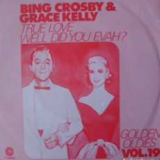 Discos de vinilo: GRACE KELLY Y BING CROSBY SINGLE SELLO CAPITOL EDITADO EN ALEMANIA. Lote 182639237
