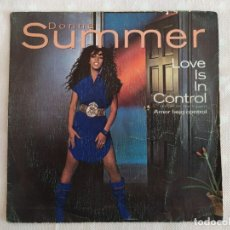 Discos de vinilo: DONNA SUMMER – LOVE IS IN CONTROL (FINGER ON THE TRIGGER). Lote 182639327