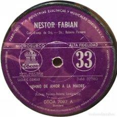 Discos de vinilo: SENCILLO ARGENTINO DE NÉSTOR FABIÁN AÑO 1964. Lote 122149623