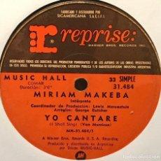 Discos de vinilo: SENCILLO ARGENTINO DE MIRIAM MAKEBA AÑO 1970. Lote 122151171