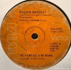 Discos de vinilo: SENCILLO ARGENTINO DE PALITO ORTEGA SIN PORTADA AÑO 1971. Lote 122152267