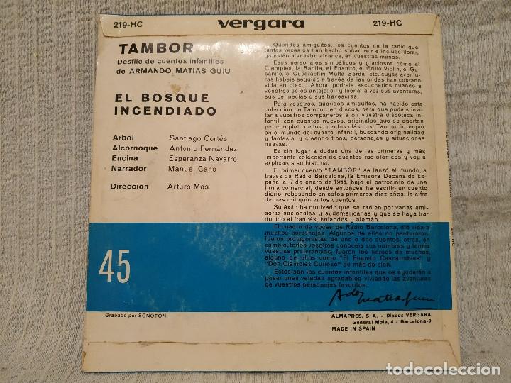 Discos de vinilo: EL BOSQUE INCENDIADO - NARRADOR MANUEL CANO (SERIE TAMBOR VERGARA 1964) INCLUYE LIBRETO 8 PÁGINAS - Foto 2 - 182642123