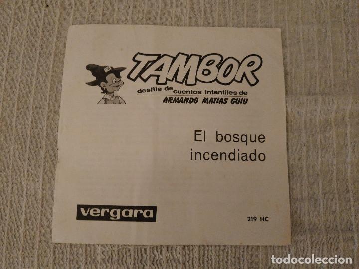 Discos de vinilo: EL BOSQUE INCENDIADO - NARRADOR MANUEL CANO (SERIE TAMBOR VERGARA 1964) INCLUYE LIBRETO 8 PÁGINAS - Foto 3 - 182642123