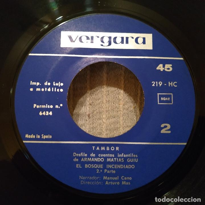 Discos de vinilo: EL BOSQUE INCENDIADO - NARRADOR MANUEL CANO (SERIE TAMBOR VERGARA 1964) INCLUYE LIBRETO 8 PÁGINAS - Foto 5 - 182642123