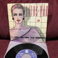 """Discos de vinilo: LITUS VAN - DONT YOU KNOW THAT INVENTION?, SINGLE 7"""", 1984, ESPAÑA. Lote 182643593"""