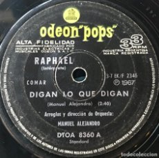 Discos de vinilo: DOS SENCILLOS ARGENTINOS DE RAPHAEL. Lote 112569099