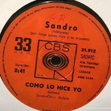 Discos de vinilo: LOTE DE SEIS SENCILLOS ARGENTINOS DE SANDRO. Lote 112569643