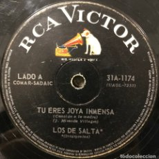 Discos de vinilo: SENCILLO ARGENTINO DE LOS DE SALTA AÑO 1967. Lote 112572387