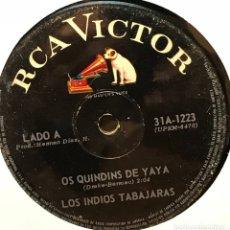 Discos de vinilo: SENCILLO ARGENTINO DE LOS INDIOS TABAJARAS AÑO 1968. Lote 122152559