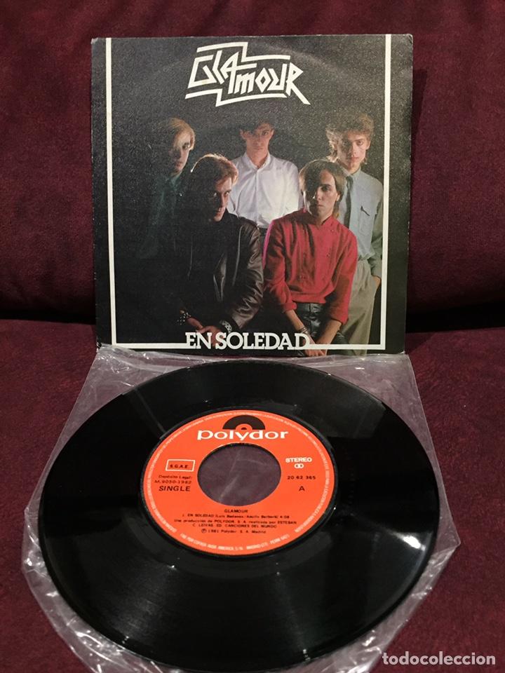 """GLAMOUR - EN SOLEDAD, SINGLE 7"""", 1982, ESPAÑA (Música - Discos - Singles Vinilo - Grupos Españoles de los 70 y 80)"""