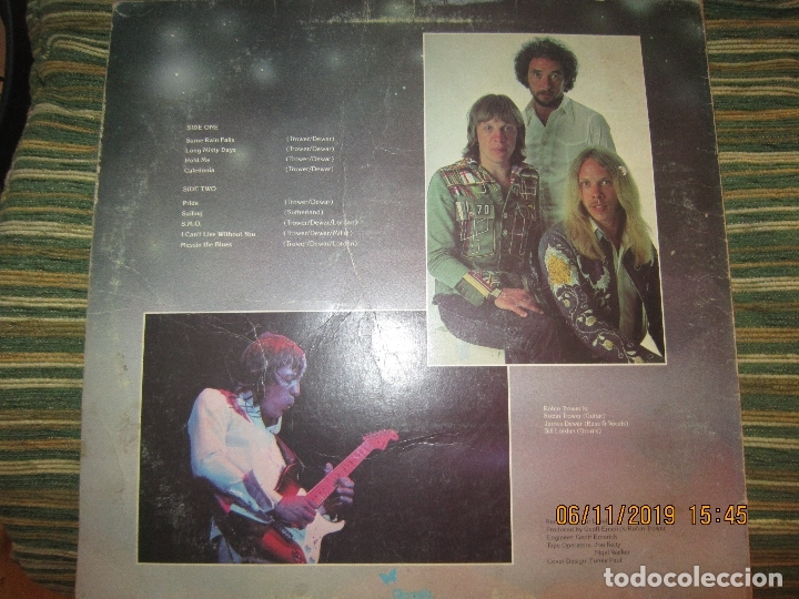 Discos de vinilo: ROBIN TROWER - LONG MISTY DAYS LP - ORIGINAL U.S.A. - CHRYSALIS RECORDS 1976 - GREEN LABEL - - Foto 2 - 182644116